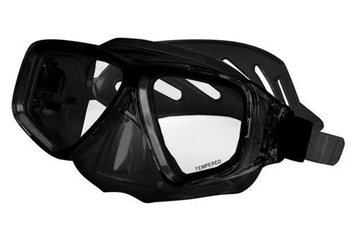 Deep See Clarity Silicone Mask - Black