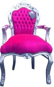 barock esszimmer stuhl pink silber mit armlehnen thron