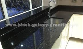 Prefabricated Kitchen Countertops Black Galaxy Granite Design Of Prefab