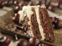 Black Forest Cake Made with Chocolate and Cherries