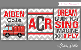 100 Fire Truck Wall Art Nursery Wall Art Printable Nursery Nursery