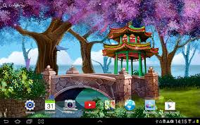 Halloween Live Wallpapers For Pc by Magic Garden Live Wallpaper Hd Android Apps On Google Play