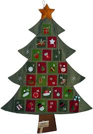 Christmas Tree Amazon by Amazon Com Hanging Fabric Christmas Advent Calendar Countdown To