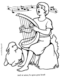 Full Size Of Coloring Pagedavid Page King Sings Praises To God In The
