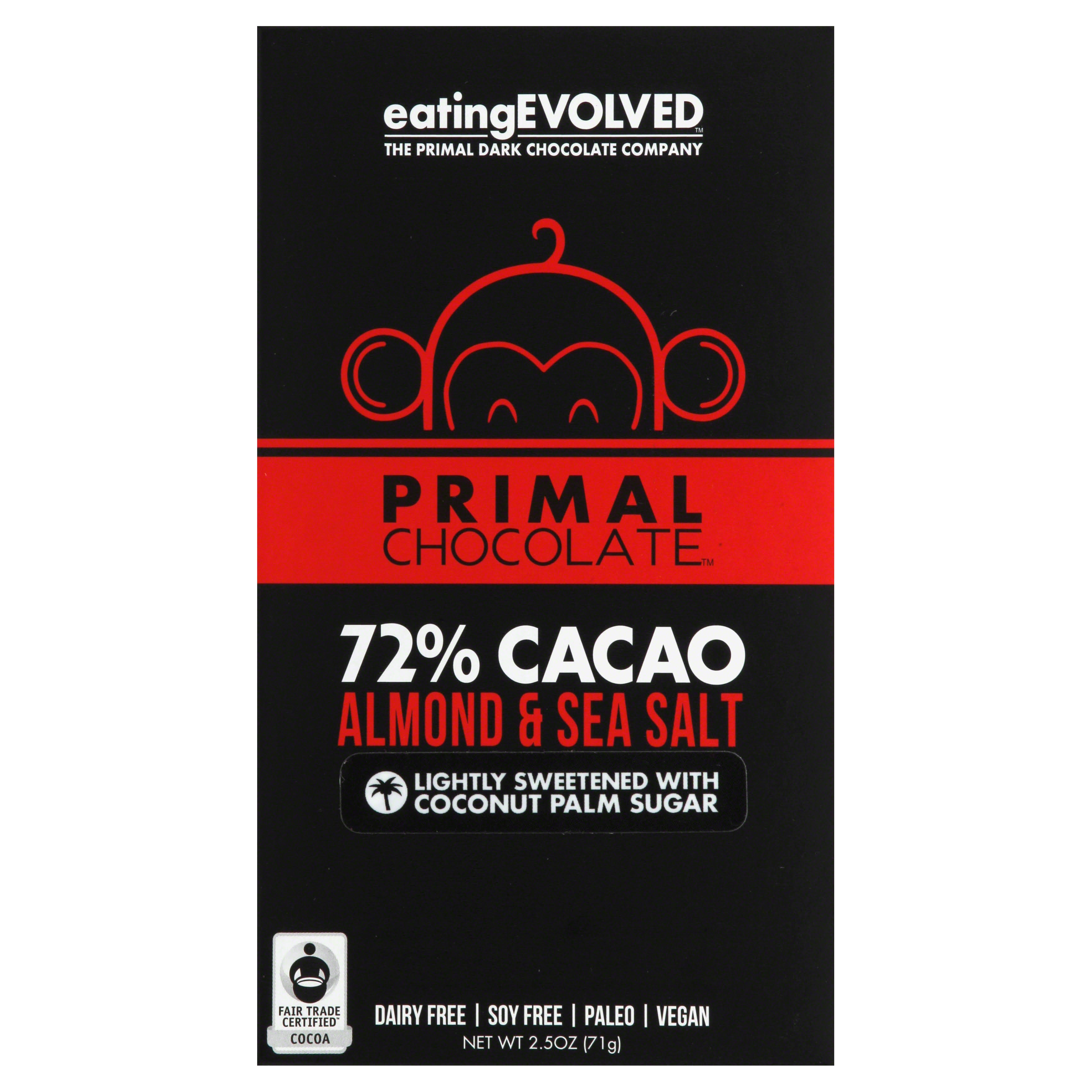 Primal Chocolate - Almond and Sea Salt, 2.5oz