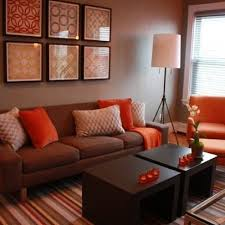 Orange And Brown Living Room Accessories