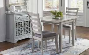 Gray Finish Small Scale 3 Piece Dining Set