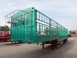 100 Semi Truck Trailers Hot Item 3 Axle 60ton Horse Fence Stake Side Wall Trailer