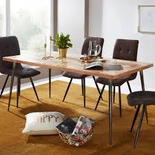 finebuy esszimmertisch massivholz akazie metall industrial esstisch massiv küchentisch holztisch esszimmer speisetisch holz massivholztisch