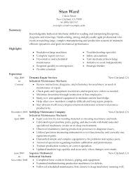 Electrician Resume Examples Maintenance Template Objective Automotive Supervisor Samples