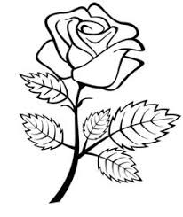 Flowers Roses Coloring Pages For Preschool