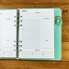 A5Tag Auf Einer Seite GedrucktGEPUNZT Planer Kalender Etsy
