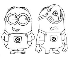 Dave And Carl Minions Coloring Page
