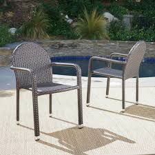Noble House Otto Multibrown Armed Stackable Wicker Outdoor Dining Chair  (2-Pack) Gdf Studio Dorside Outdoor Wicker Armless Stack Chairs With Alinum Frame Dover Armed Stacking With Set Of 4 Palm Harbor Stackable White All Weather Patio Chair Bay Island Noble House Multibrown Ding 2pack Plowhearth Bistro Two 30 Arm Brown 51 Bfm Seating Ms11cbbbl Gray Rattan Inoutdoor Restaurant Of Red By Crosley Fniture