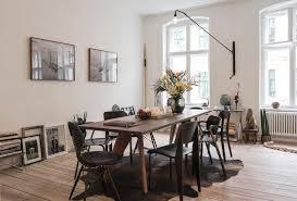 esszimmer in erdtönen holztisch wohnzimmer esstis