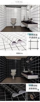 großhandel badezimmer wasserdichte wandaufkleber küche ölbeweis aufkleber mosaik gitter selbstklebende toilette fliesen tv tapete bad