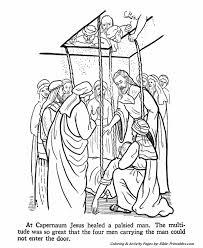 Jesus Teaches Coloring Pages P5 At Capernaum