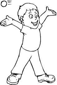 Little Boy Printable People Coloring Pages