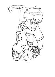 Ben 10 Coloring Pages For Kids