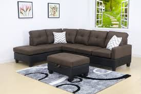 100 Modern Living Room Couches Evelyn Brown Linen Left Facing Sectional Sofa Set