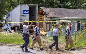 100 Truck Driving Schools In Greensboro Nc Tractortrailer Driver Injured After Crashing Through