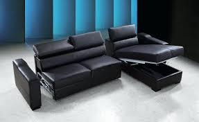 Buchannan Faux Leather Corner Sectional Sofa Black by Leather Sofa Bed With Storage American Sleeper Sectional Sleepers