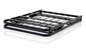 lucid foldable metal platform bed frame and mattress foundation