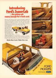 1974 Ford Supercab Pickup Truck Advertisement Motor Trend July 1974 ...