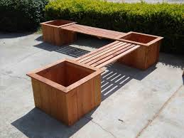 Ice Trough Reclaimed Pallet Bench With Planter Wood Flatpack Picnic Table Garden Es U