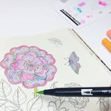 Use Tombow Dual Brush Pens Directly On Your Coloring Book For More Saturated Color Or