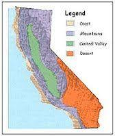 Idea Display A Regional Map Of California With The Regions Project By Lessons Laughter And Color Co