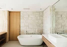 100 Modern Stone Walls Walls Behind Soaking Tub In Modern Bathroom D985_18_220