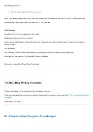9 Best Blog Writing Templates