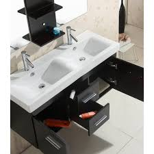 Mesa 48 Inch Double Sink Bathroom Vanity by Endearing Decorating Ideas Using Rectangular White Double Sinks