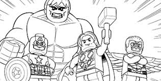 Avengers Coloring Pages Photo Image Lego