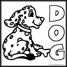 Spotted Dog Coloring Page Printables For Kids Free Word Search