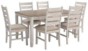 Signature Design By Ashley D394-425 Skempton Dining Room Table And Chairs  (Set Of 7) Two-Tone