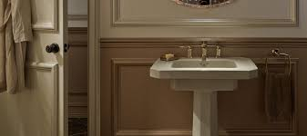 Kohler Villager Bathtub Drain by Pedestal Bathroom Sinks Bathroom Kohler