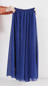 wholesale women chiffon long skirts candy color pleated maxi