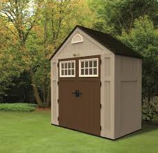 Suncast Outdoor Vertical Storage Shed by Sucast Outside Storage Sheds With Robust Double Doors And