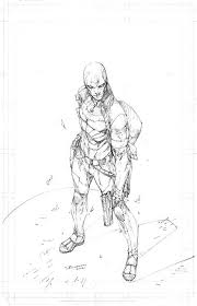 Red Hood Pencils By Brett Booth