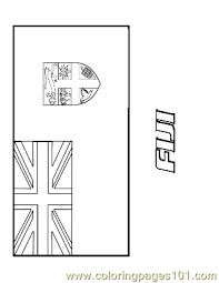Antarctica Flag Coloring Page Pages
