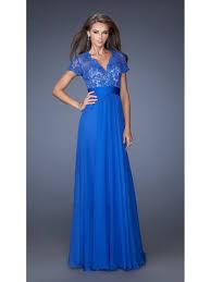 line v neck short sleeves lace long mother of the bride dresses