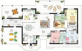 plan maison plain pied 6 chambres demeure de plain pied dé du plan de demeure de plain pied