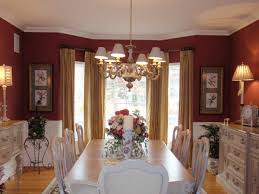 Curtains For Dining Room White And Maroon
