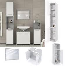vicco badmöbel set kiko grau beton badezimmer spiegel waschtisch unterschrank badschrank hochschrank