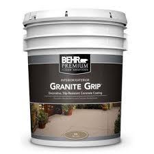Behr Garage Floor Coating Vs Rustoleum by Behr 5 Gal 65505 Tan Granite Grip Interior Exterior Concrete