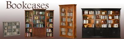 custom bookcases california solid wood american made bookcases