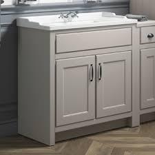 Lyon Toilet Slimline Wall Hung Basin Cabinet Gloss White