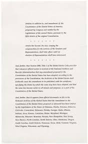 United States Constitution & Bill of Rights and text in